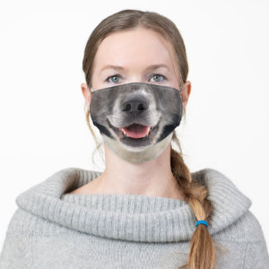 Black Dog Bottom Face Cloth Face Mask