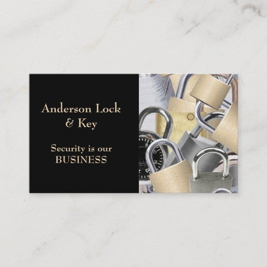 Black Gold Locksmith Business Card