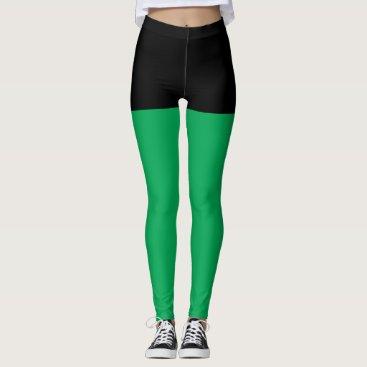 Black & Green Superhero Shorts Leggings
