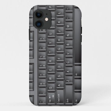 Black Keyboard iPhone 11 Case