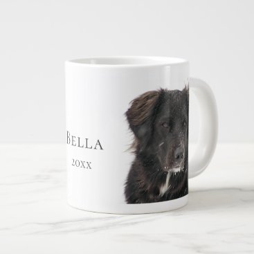 Black Lab Pet Dog Photo Name Year Giant Coffee Mug