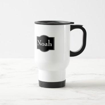 Black Label Personalized Travel Mug