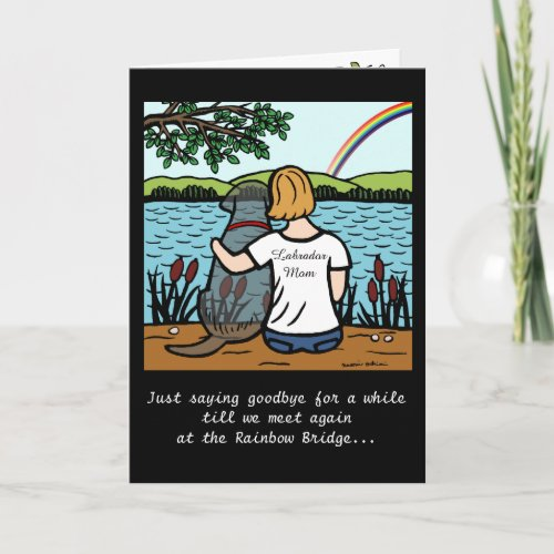 Black Labrador Angel and Mom Card