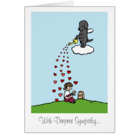 Black Labrador Angel with Love Card