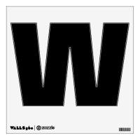Black Letter W Wall Decor | Zazzle