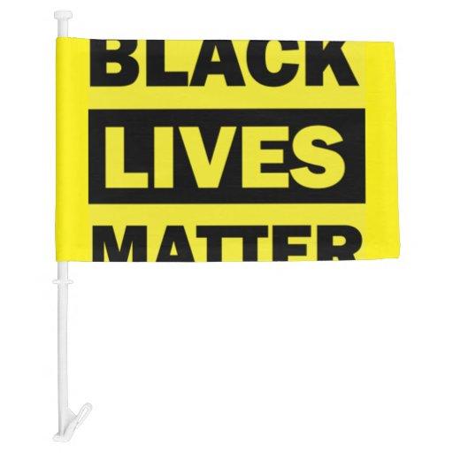 Black Lives Matter Car Flag Zazzle