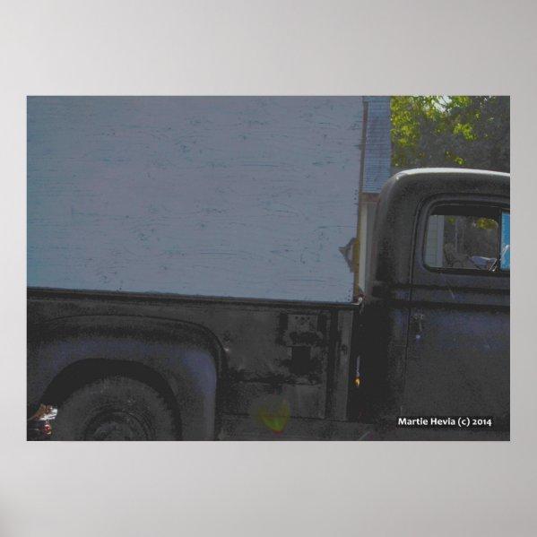 Black Pickup Truck Posters