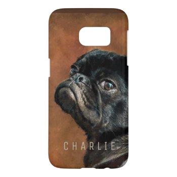 Black Pug Dog Samsung Galaxy S7 Case