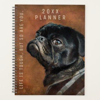 Black Pug Dog Motivational Planner