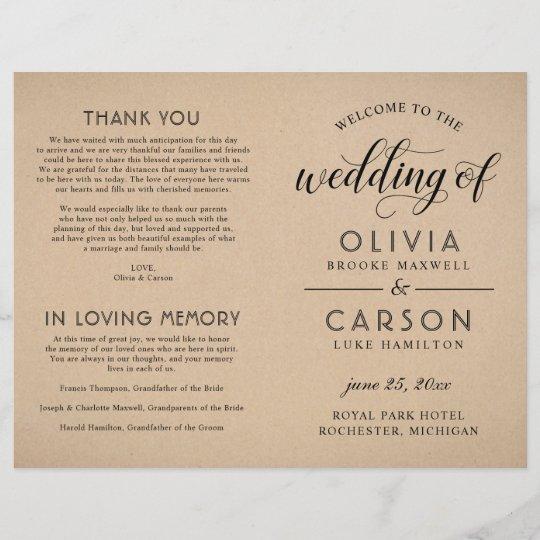 black script wedding ceremony