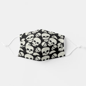 Black Skull Design Cloth Face Mask