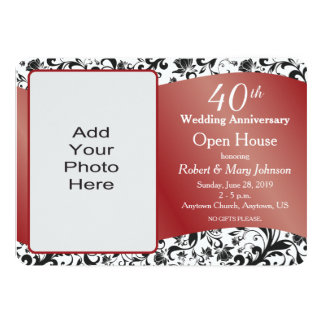 40th Wedding Anniversary Party Invitation Wording