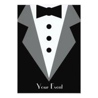 Black Tie Affair 5x7 Paper Invitation Card | Zazzle