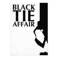 black tie affair : beautiful silhouette 5x7 paper ...