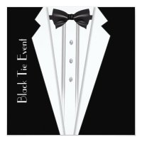 Black Tie White Tuxedo Formal Invitation | Zazzle.com