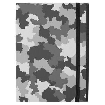 """Black & White Camouflage iPad Pro 12.9"""" Case"""