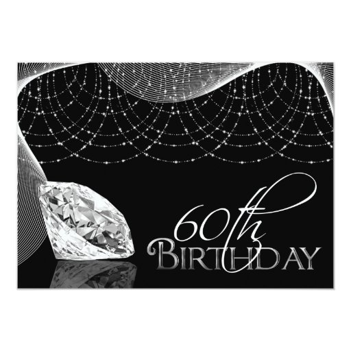 50th Bling Birthday Invitations