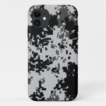 Black & White Digital Camouflage iPhone 11 Case