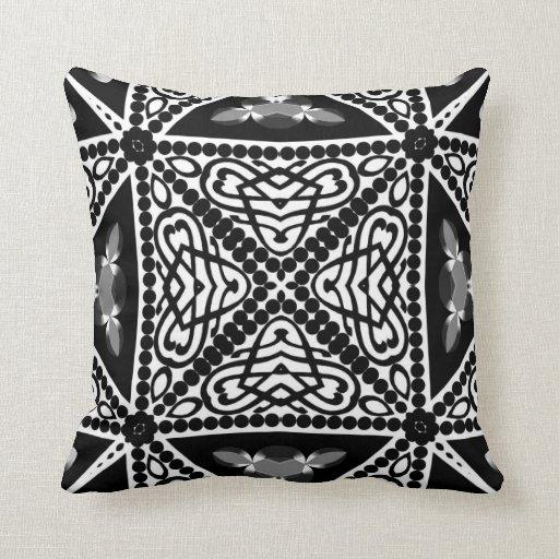 Black & White Modern Tribal Cushion