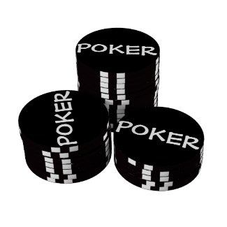 Black & White (Personalize) - Poker Chips