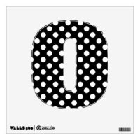 Black White Polka Dot Letter A Wall Decals & Wall Stickers ...