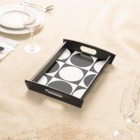 Black&White Square&Circle Decorative Design Serving Tray ...