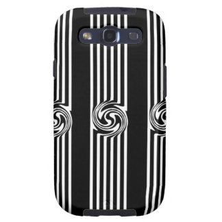 Black & White Swirl Burst Galaxy SIII Covers