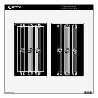 Black & White Swirl Burst Kindle Fire Skin