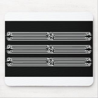 Black & White Swirl Burst Mousepads