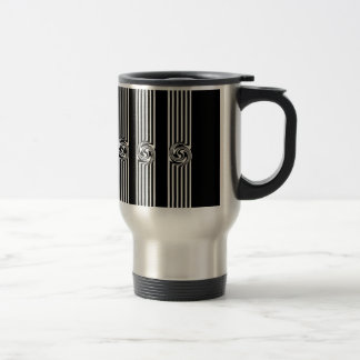 Black & White Swirl Burst Mug