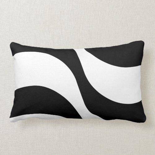 black + white zebra stripe pattern modern pillow