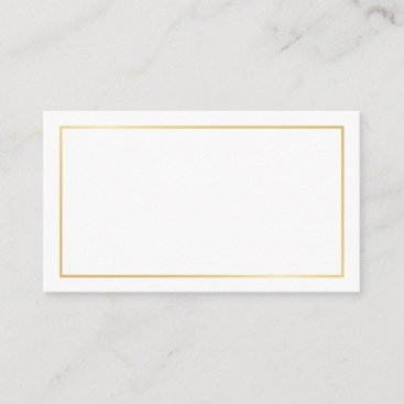 Blank Gold and White Wedding Advice and Wishes