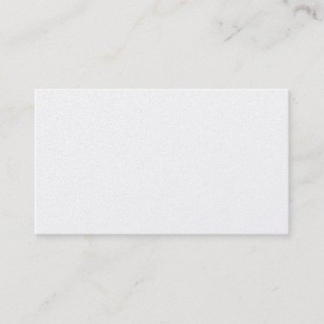 Blank Platinum Metallic Silver Business Card. Business Card