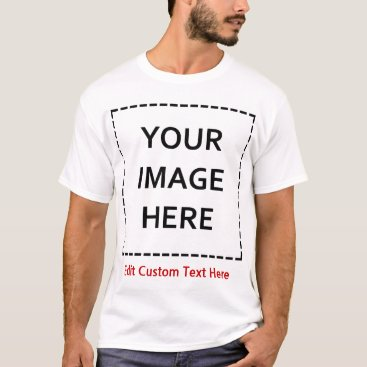 Blank Template Create Your Own T-Shirt