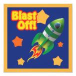 Blast Off Into Space Invitation