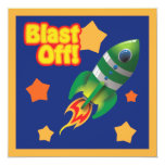 Blast Off Into Space Invitation
