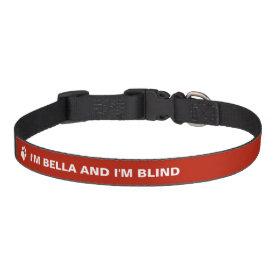 Blind Dog Awareness With Custom Name Pet Collars