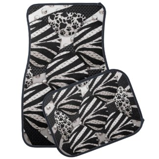 Bling Animal Print Floor Mat