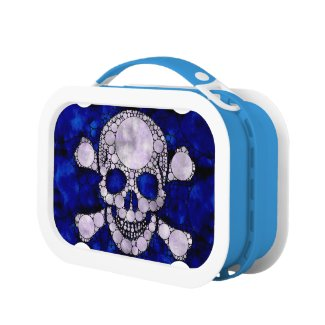 Bling Skull and Bones (Blue) YUBO Lunchbox Lunchbox