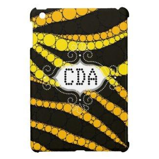 Bling Zebra Monogram iPad Mini Covers