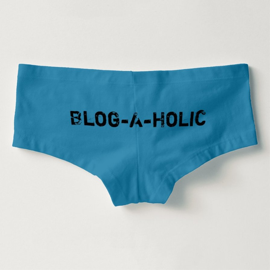 Blog-A-Holic Blue Boyshorts