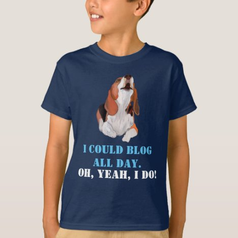Blog All day Barking Beagle Editable Quote