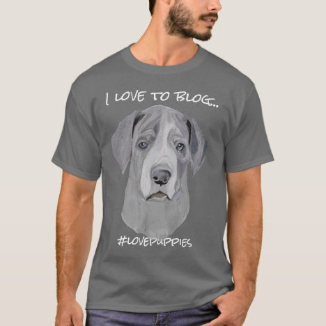 Bloggers Simple Editable Quote Great Dane Puppy