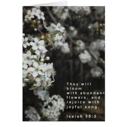 Bloom Scripture Card