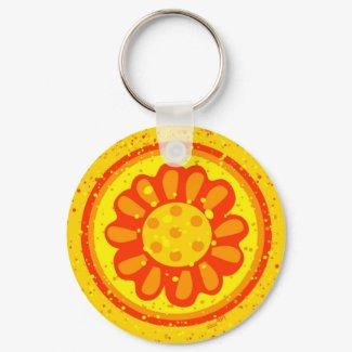 Blossoming Sun Keychain keychain