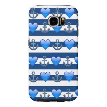 Blue Anchor Emoji Samsung Galaxy S6 Case