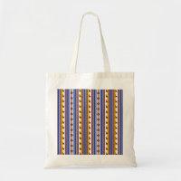 Blue and brown peruvian Llama Pattern Tote Bag