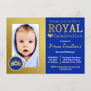 prince 1st birthday invitations zazzle
