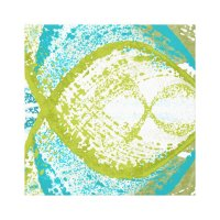 Blue and Green Abstract Wall Art | Zazzle