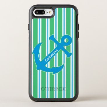 Blue and Green Nautical Anchor iPhone 6 Plus
